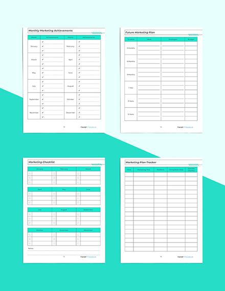 Printable Marketing Planner Marketing Checklist