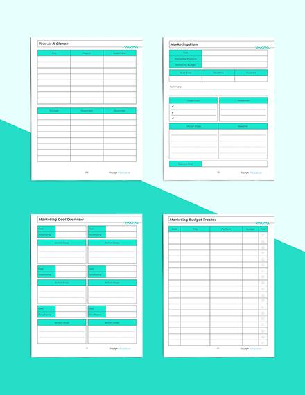 Printable Marketing Planner Marketing Plan