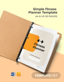 Simple Fitness Planner Template