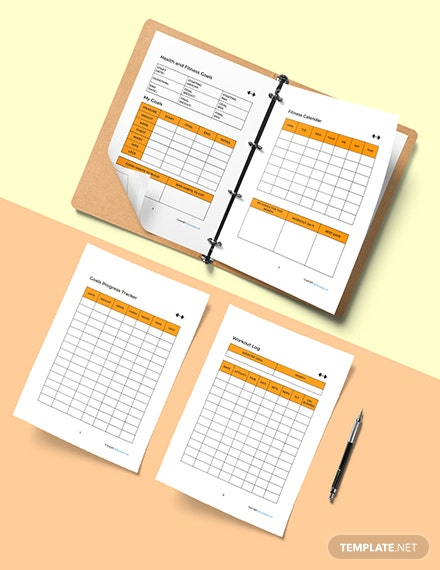 Simple Fitness Planner Template Download