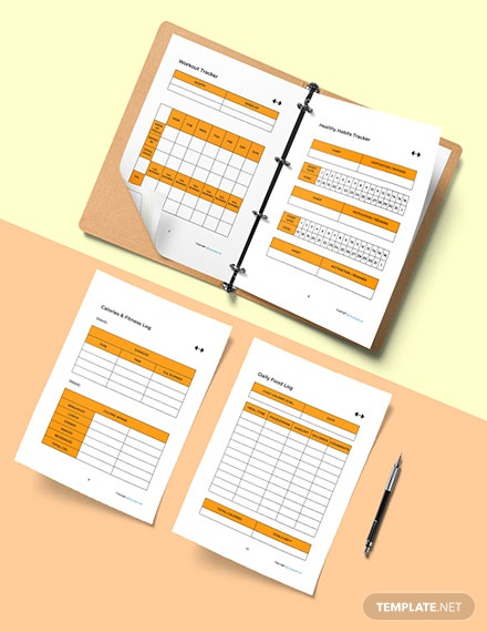 Simple Fitness Planner Template Example