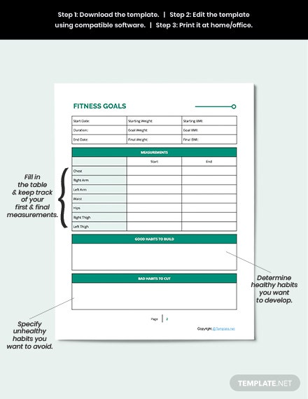 Printable Fitness Planner Guide
