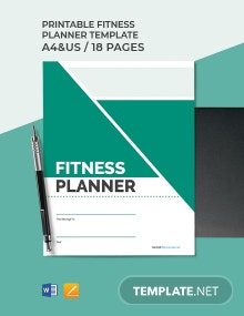 Printable Fitness Planner Template