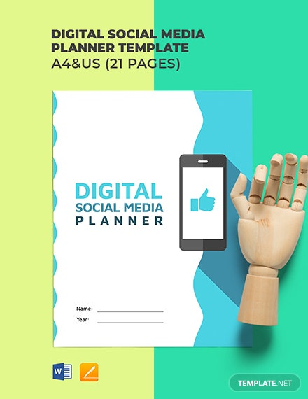 Digital Social Media Planner Template
