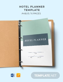 Free Printable Hotel Planner Template