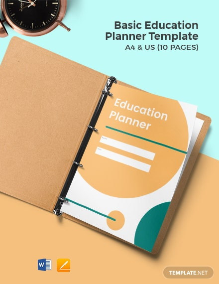 Free Basic Education Planner Template