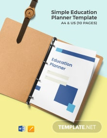 Free Simple Education Planner Template
