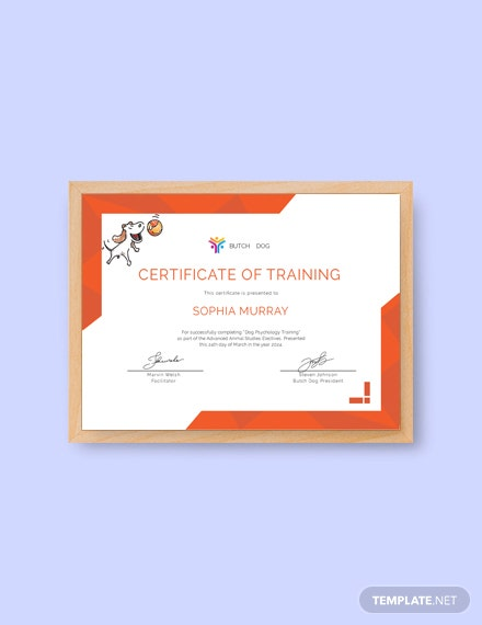 free dog training certificate template download 200 certificates