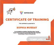 Security training certificate template in illustrator dog training certificate template yadclub