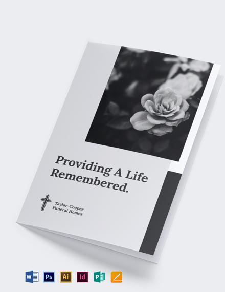 Bi-Fold Funeral Brochure Template