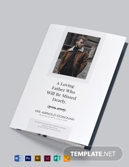 Free Editable Burial Funeral Bi-Fold Brochure Template