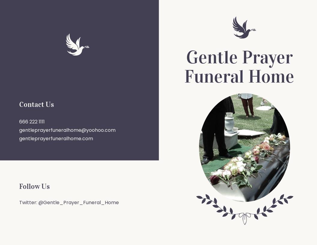 Printable Funeral Mass Bi Fold Brochure Template.jpe