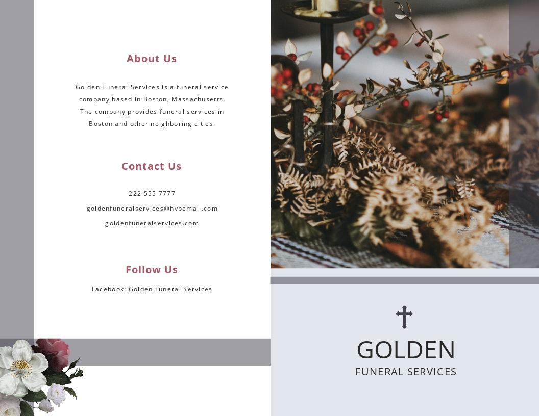 Printable Funeral Program Bi Fold Brochure Template.jpe