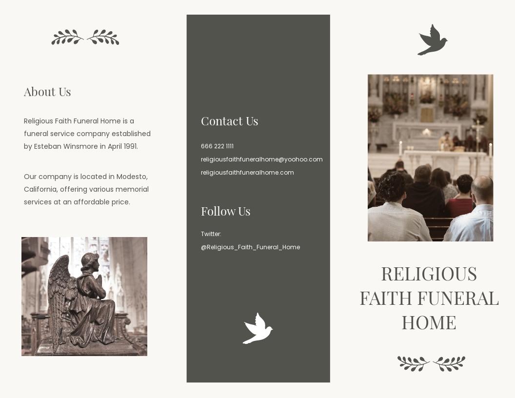 Religious Funeral Memorial Tri Fold Brochure Template.jpe