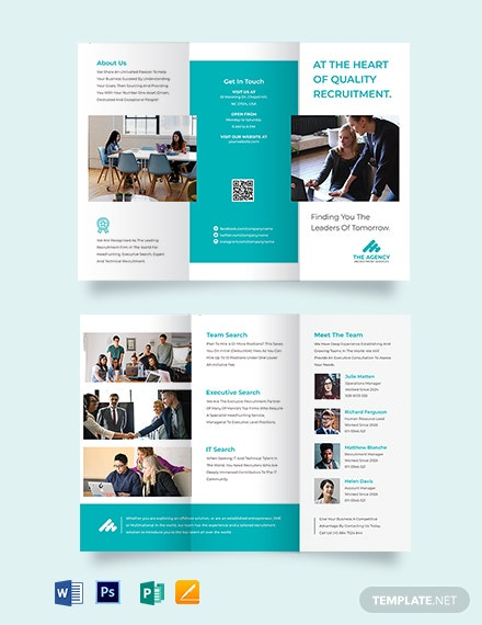 Staffing & Recuritment Agency Tri-Fold Brochure Template