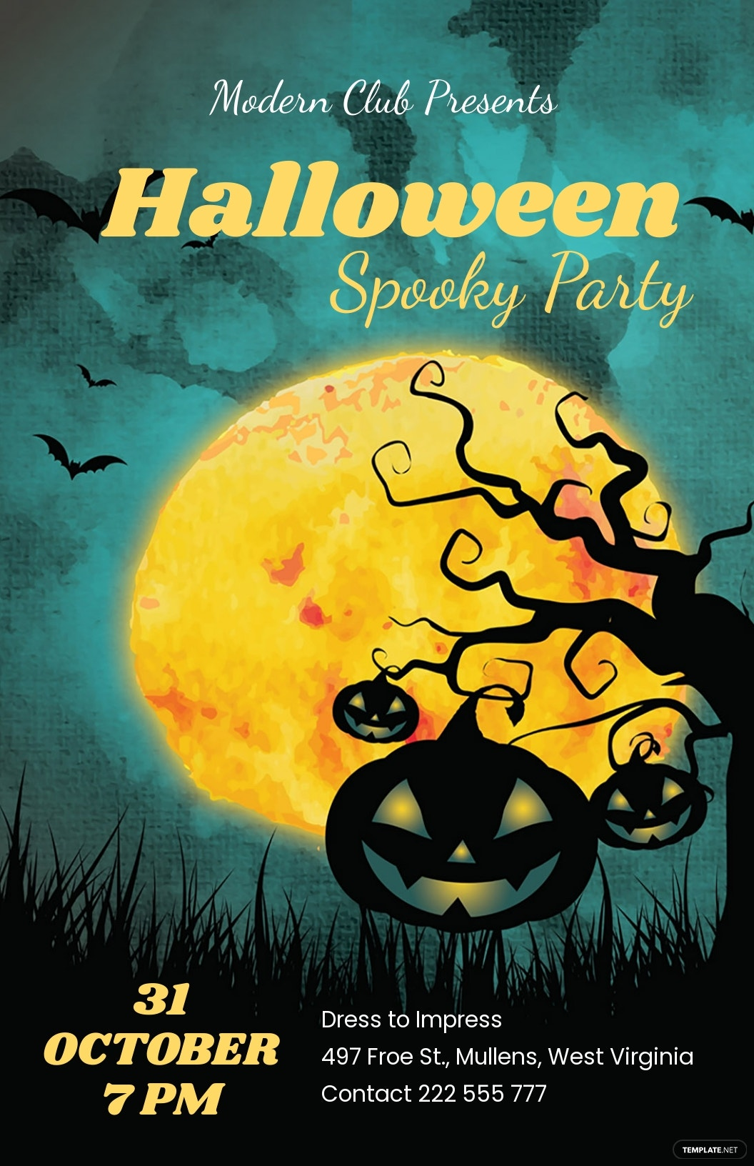 Halloween Poster Template [Free JPG] - Word, Apple Pages, PSD, Publisher