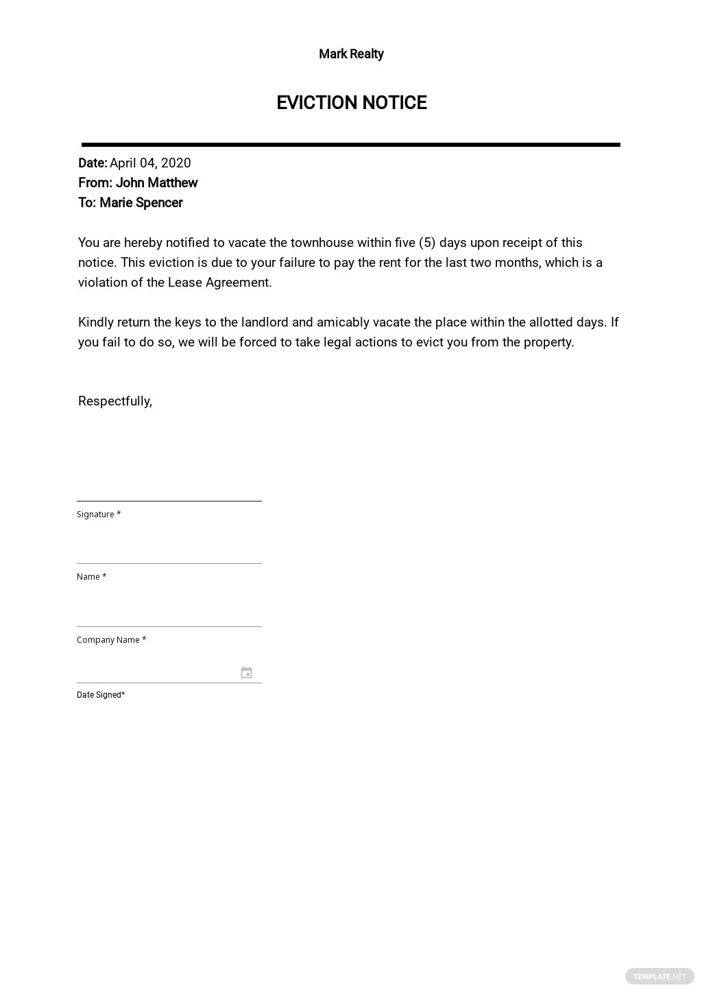 Free 5 Day Eviction Notice Template.jpe