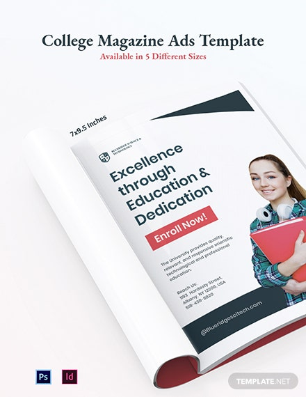Free College Magazine Ads Template