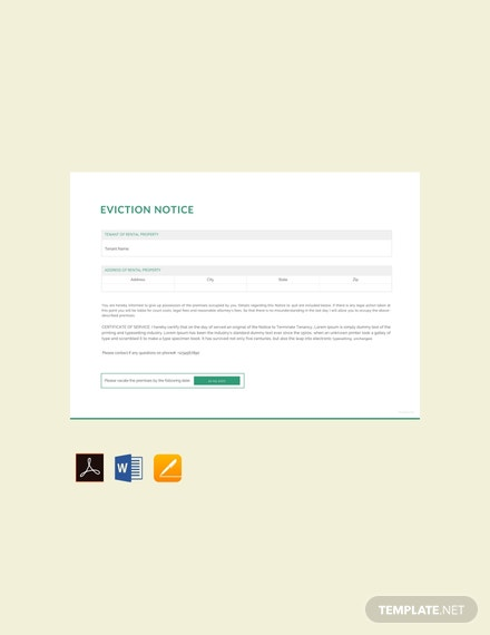 Free Blank Eviction Notice Template