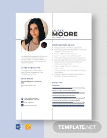 GED Teacher Resume Template