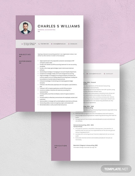 General Accounting Resume Download