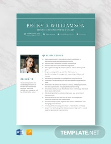 General and Operations Manager Resume Template