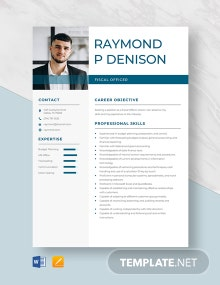 Fiscal Officer Resume Template