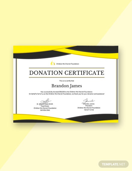 free donation certificate template download 200 certificates in