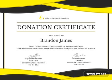 Free Donation Certificate Template: Download 200 ...