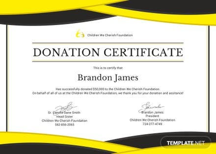 free donation certificate template in adobe photoshop microsoft