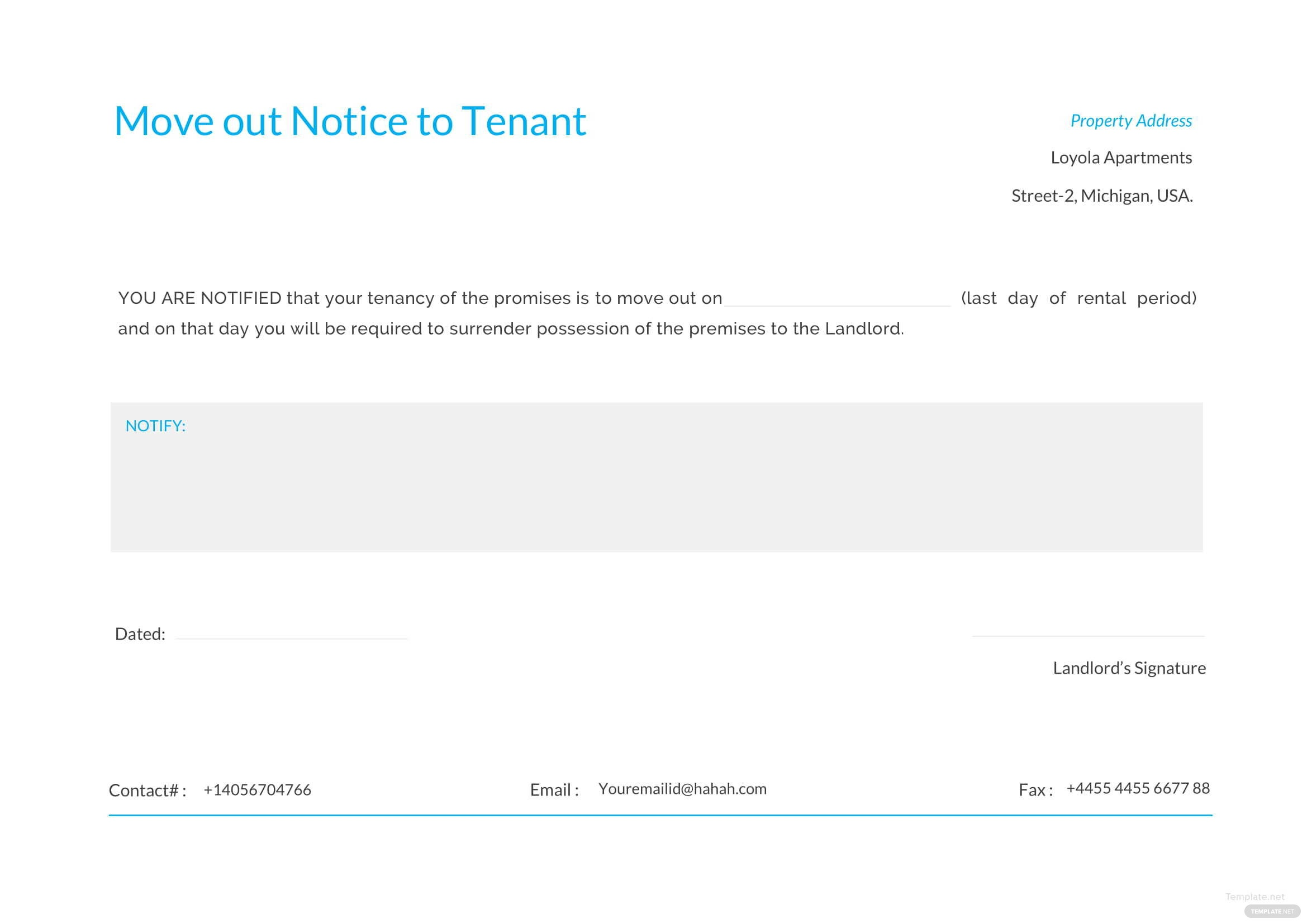 Move out notice to tenant template in microsoft word template move out notice to tenant template thecheapjerseys Gallery