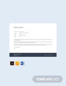 Free Notice to Quit Template