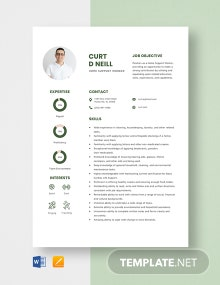 Home Support Worker Resume Template