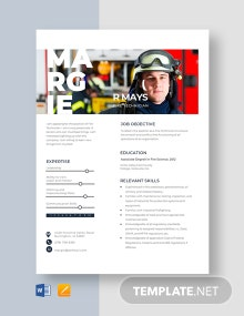 Fire Technician Resume Template