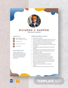 Fire Safety Officer Resume Template
