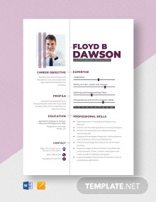 Outsourcing Recruiter Resume Template