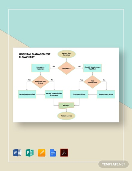 Hospital Management Flowchart Template