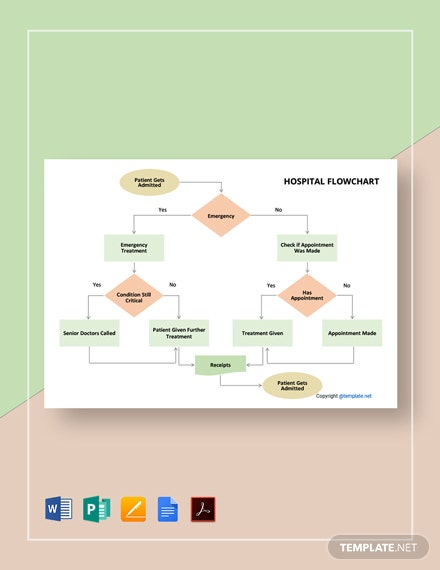 Free Simple Hospital Flowchart Template