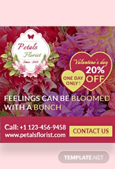 Flower Shop Ad Banner Template