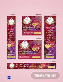Free Flower Shop Ad Banner Template
