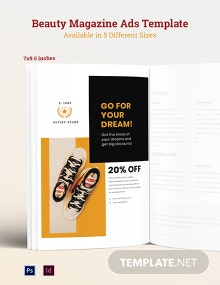 Free Commercial Magazine Ads Template