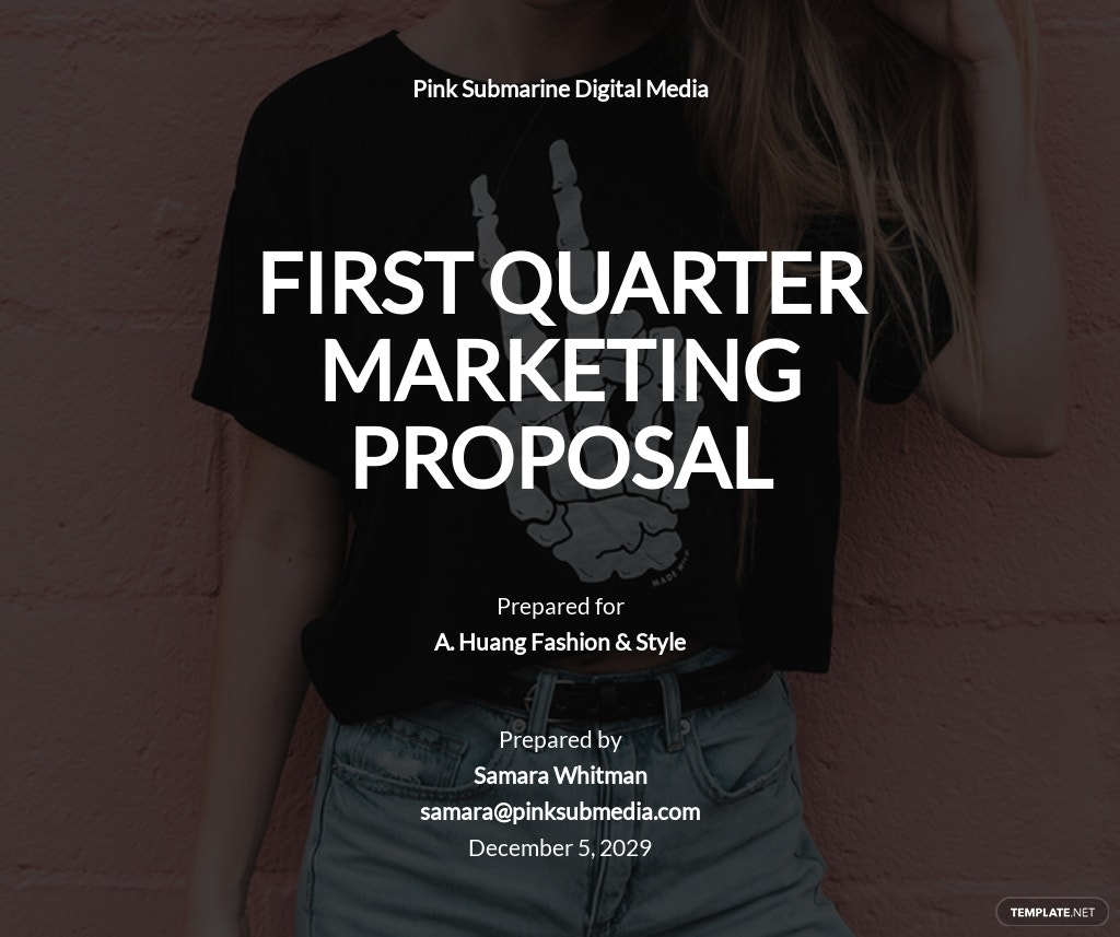 First Quarter Marketing Proposal Template