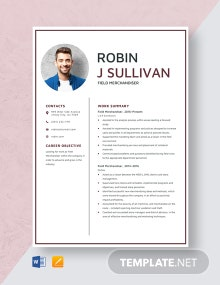 Field Merchandiser Resume Template