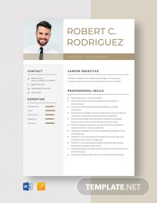 Hospital Case Manager Resume Template