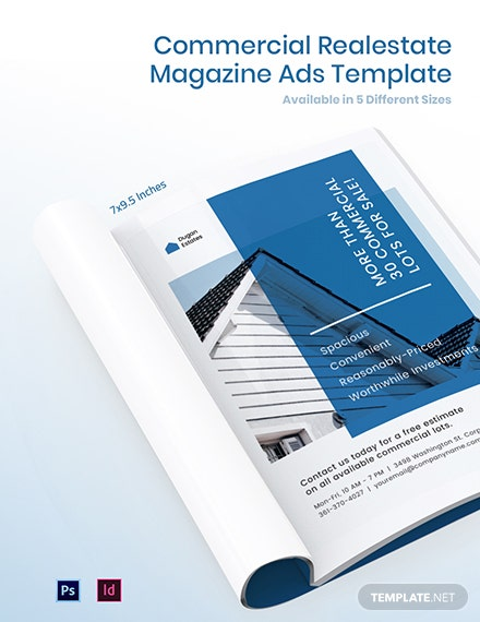 Free Commercial Real Estate Magazine Ads Template