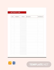 Free Activity Log Template