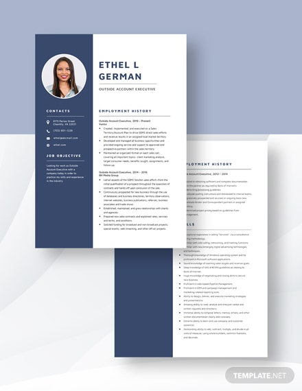 Outside Account Executive Resume Download