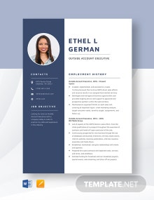 Outside Account Executive Resume Template