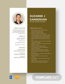 Outside Account Manager Resume Template
