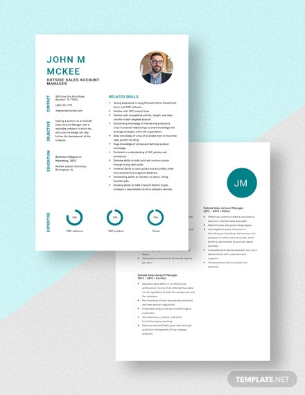 Outside Sales Account Manager Resume Download